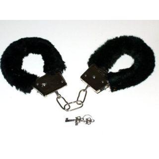 Novelty Fluffy Handcuffs Black