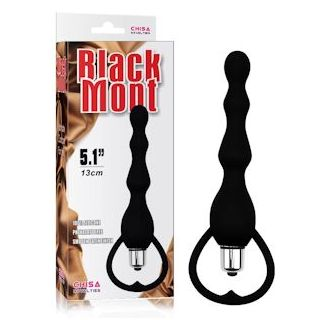 Black Mont Vibrating Tail Power Anal Beads