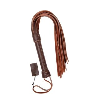 MUQU Brown Leather Whip