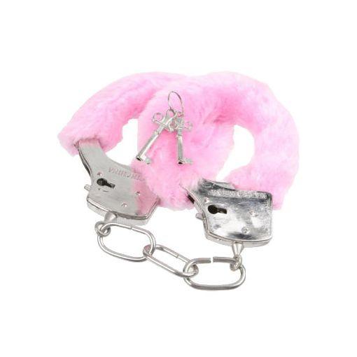 Novelty Fluffy Handcuffs Pink