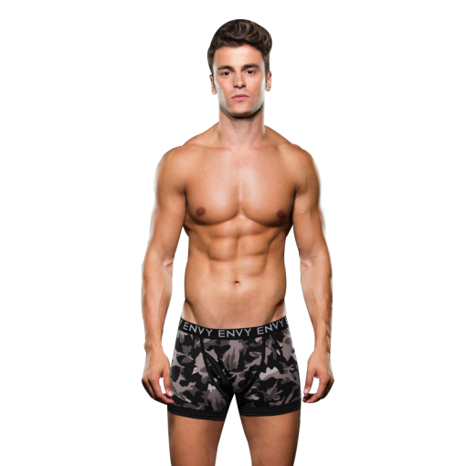 Envy Wraparound Camo Boxer Brief Black Size Small / Medi