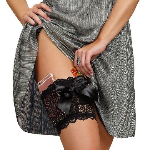 Dreamgirl Lace Garter with Pocket