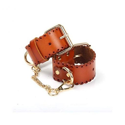Brown Leather Restraint Cuffs