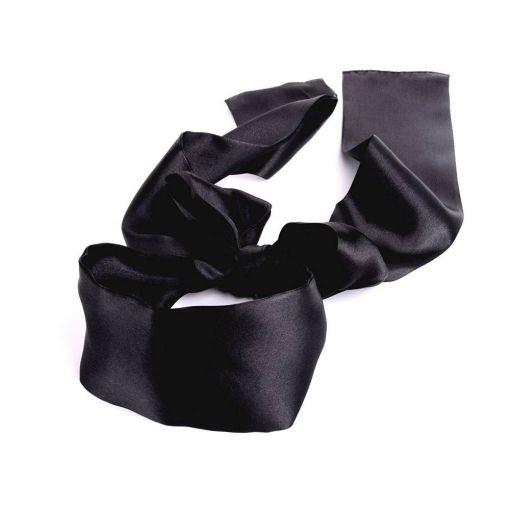 Black Silky Blind-Fold Scarf 141031
