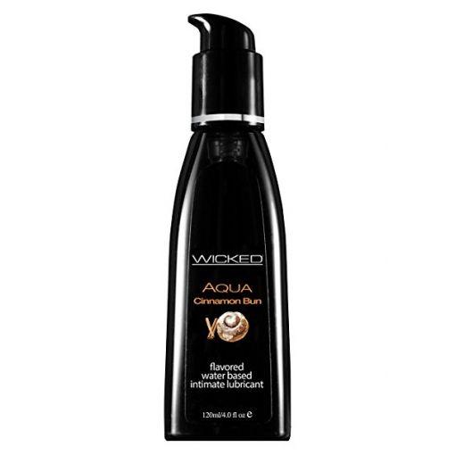 Wicked Aqua Flavoured Waterbased Personal Lubricants-Cinnamon Bun