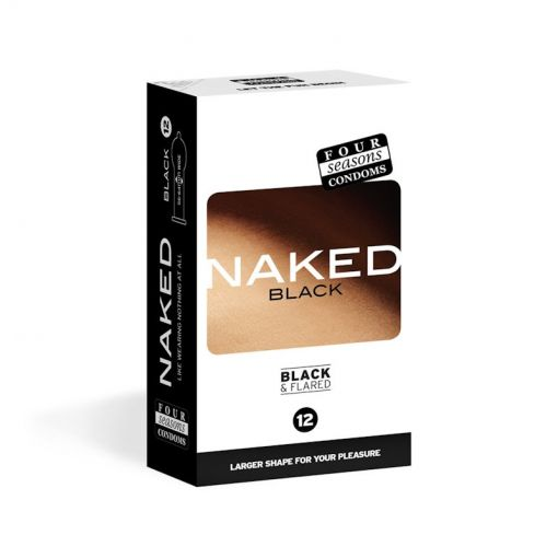 Four Seasons Naked Black Condoms 12 PK