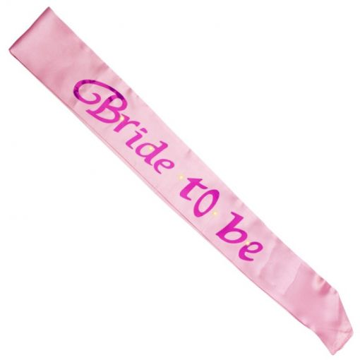 Pink Bride To Be Flashing Sash
