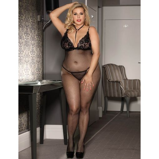 Queen-Sheer-Open-Crotch-Bodystocking-Size-14