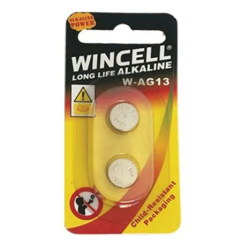 Wincell Long Life Alkaline Size W-AG13 Batteries